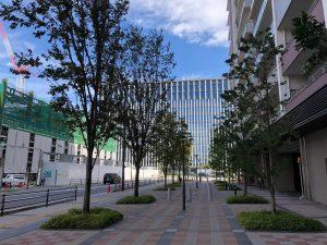 裁判所の新庁舎遠景